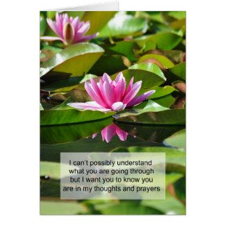 Pena - pensamientos y rezos tarjeta de felicitación
