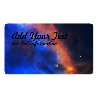 Penacho del gas de una estrella recién nacida en tarjetas de visita