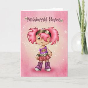 Penblwydd hapus-Lindo Galés Dragón tarjeta de cumpleaños