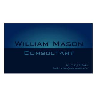 Pendiente azul de dos tonos, tarjeta de visita pro