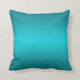 Pendiente azul de la aguamarina oscura y ligera - cojín decorativo