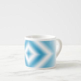 pendiente azul del diamante del Personalizar-cielo Taza De Espresso