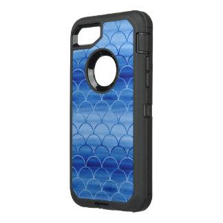 Pendiente azul pintada del modelo de la escala funda OtterBox defender para iPhone 8/7