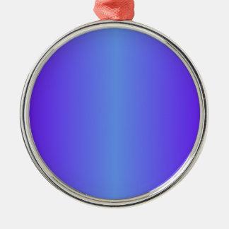 Pendiente azul y eléctrica del Cornflower del añil Adorno Redondo Plateado
