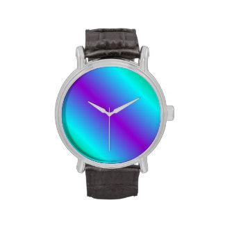 Pendiente bilinearia D1 - verde, ciánico, violeta Reloj De Mano