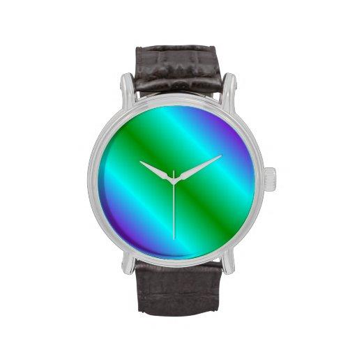 Pendiente bilinearia D1 - violeta, ciánico, verde Relojes
