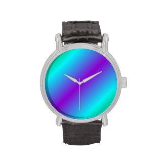 Pendiente bilinearia D2 - verde, ciánico, violeta Relojes De Pulsera