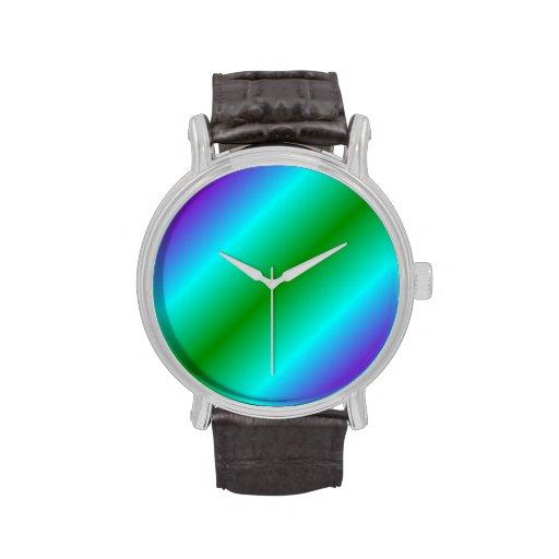 Pendiente bilinearia D2 - violeta, ciánico, verde Relojes