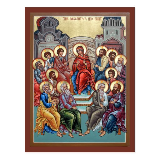 Pendiente de la tarjeta del rezo del Espíritu Sant Tarjetas Postales