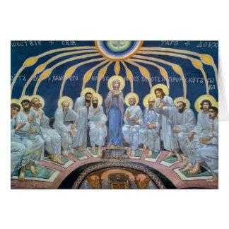 Pendiente de Mikhail Vrubel- del Espíritu Santo en Tarjeta De Felicitación