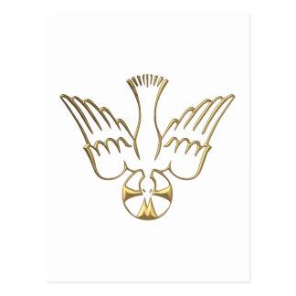 Pendiente de oro del símbolo del Espíritu Santo Postales