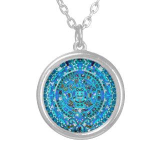 ~ pendiente del collar del calendario azteca maya