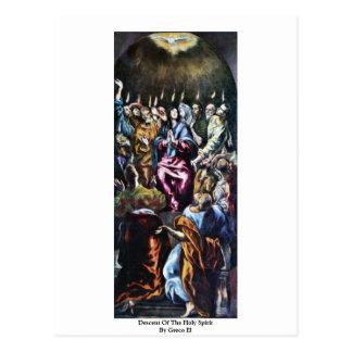 Pendiente del Espíritu Santo por el EL de Greco Postal
