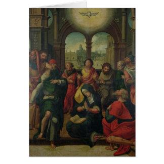 Pendiente del espíritu santo tarjeta de felicitación