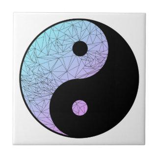 Pendiente en colores pastel Yin Yang Azulejo Cuadrado Pequeño