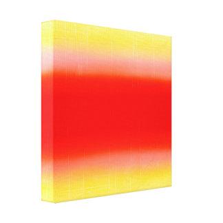 Pendiente en rojo y amarillo lienzo