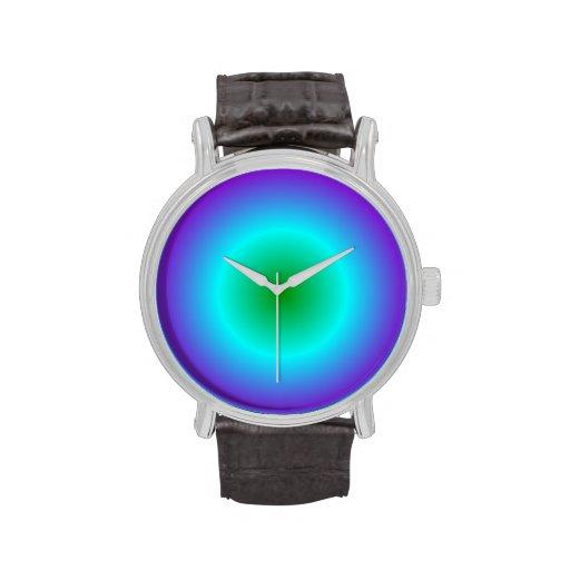 Pendiente radial - violeta, ciánico, verde relojes
