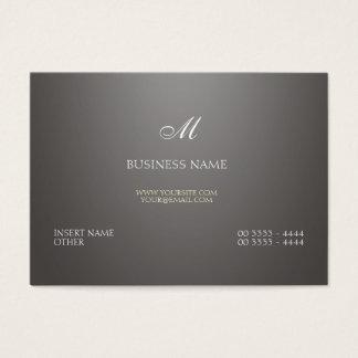 Pendiente y monograma grises tarjeta de negocios