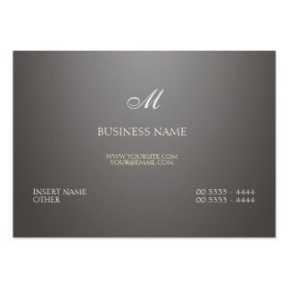 Pendiente y monograma grises tarjetas de visita grandes