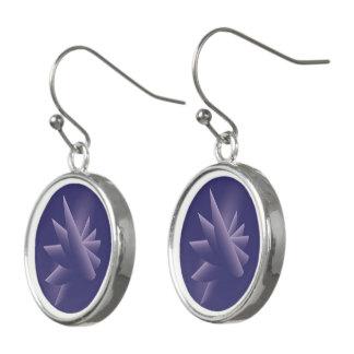 Pendientes Alas violetas