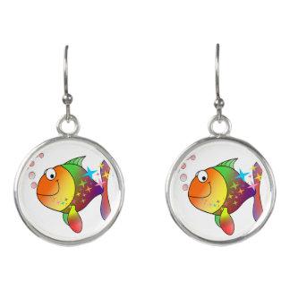 Pendientes Atún del Océano Pacífico del multicolor del arco