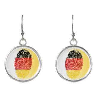 Pendientes Bandera alemana de la huella dactilar del tacto
