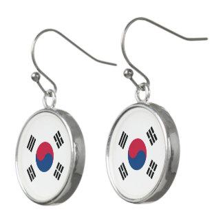 Pendientes Bandera de la Corea del Sur