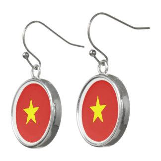 Pendientes Bandera de Vietnam