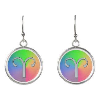 Pendientes de la astrología del arco iris del