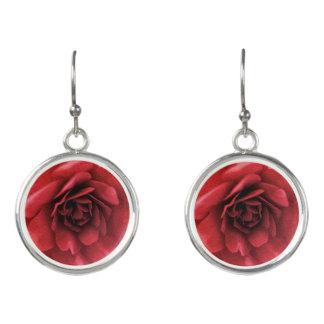 Pendientes Descenso coralino Earings de la flor