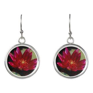 Pendientes Lotus magenta Waterlily