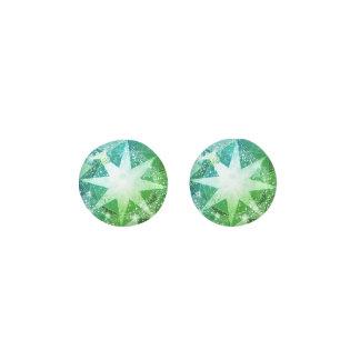Pendientes Mirada verde del diamante artificial de la piedra