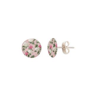 Pendientes Modelo inconsútil floral del Hydrangea rosado
