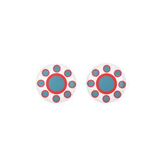 Pendientes Modelo rojo, blanco y azul de Maruthani - de la