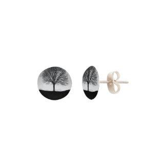 Pendientes Naturaleza en blanco y negro