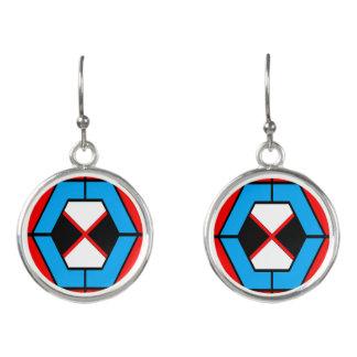Pendientes vibrantes geométricos
