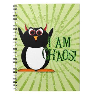 ¡Penguin™ malvado soy caos! Cuaderno divertido