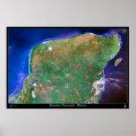 Península del Yucatán, poster del satélite de Méxi