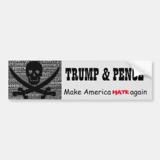 """""""Peniques de Trump&. Haga que América ODIA otra Pegatina Para Coche"""