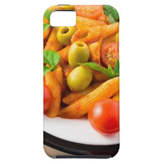 Penne italiano de las pastas en salsa de tomate funda para iPhone SE/5/5s