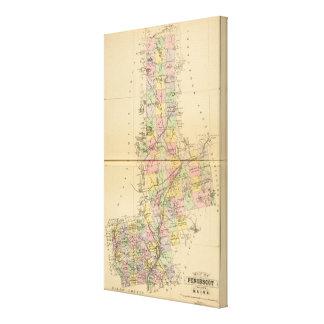 Penobscot Co, Maine Lona Envuelta Para Galerías