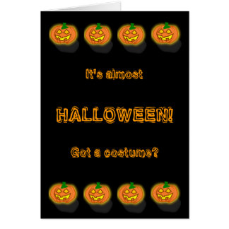 Pensador divertido adaptable de Halloween Tarjeta De Felicitación