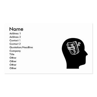 Pensamiento en la soldadura tarjeta de negocio