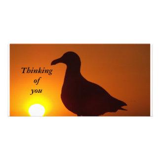 Pensamiento en la tarjeta de la foto de You_ Tarjeta Fotografica Personalizada