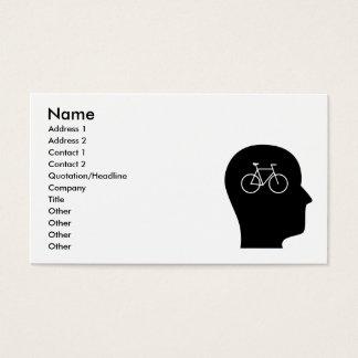 Pensamiento en montar en bicicleta tarjeta de visita