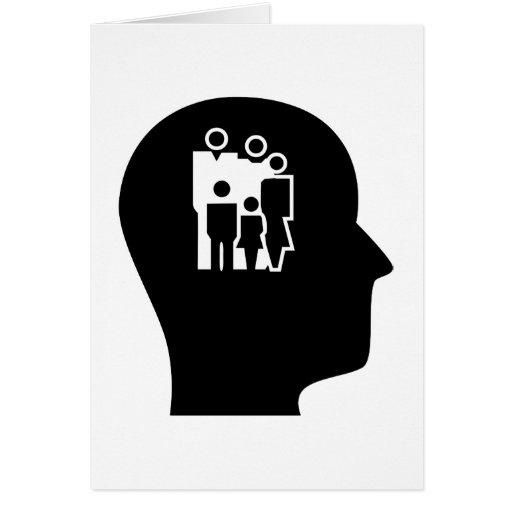 Pensamiento en trabajo social tarjeta