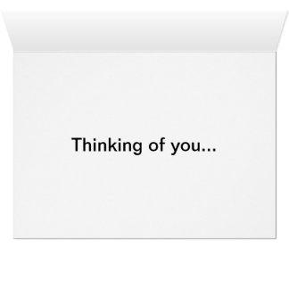 Pensamiento en usted #1 tarjeta de felicitación