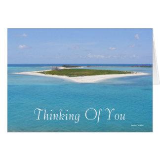 Pensamiento en usted (espacio en blanco) tarjeta de felicitación