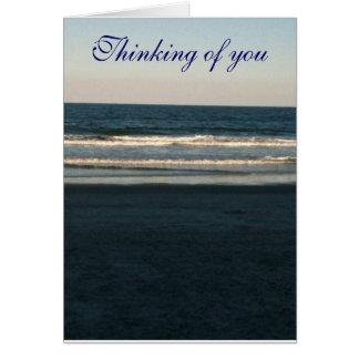 Pensamiento en usted (por el océano) tarjeta
