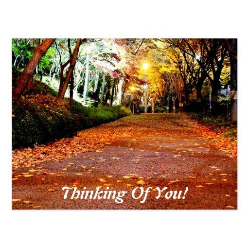 ¡Pensamiento en usted! postal
